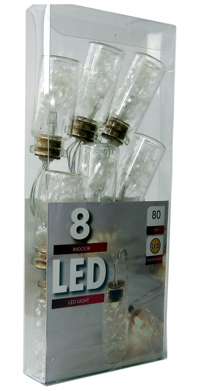 LED  Bottles with Angel Hair  Bulb String Lights  - 8